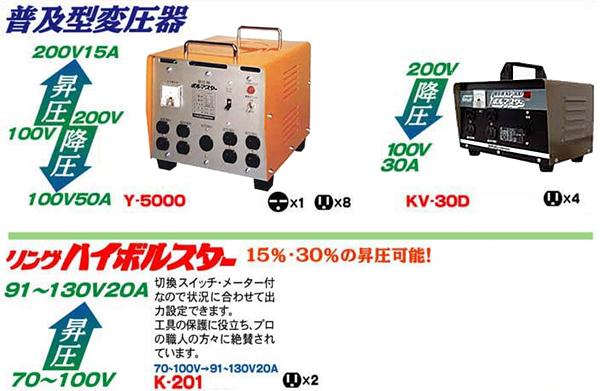 発電機トランス製品